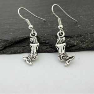 New Mermaid Nautical Silver Earrings.